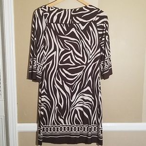 Enfocus studio animal pattern dress size 8
